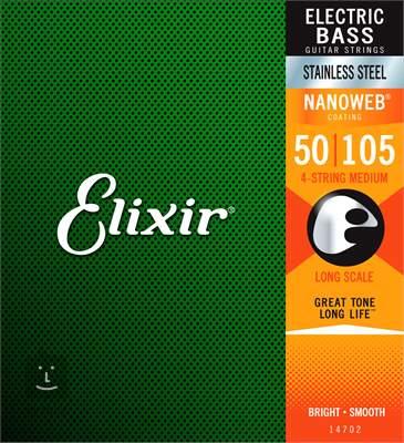 ELIXIR 14702 Medium, Long Scale Struny pro baskytaru