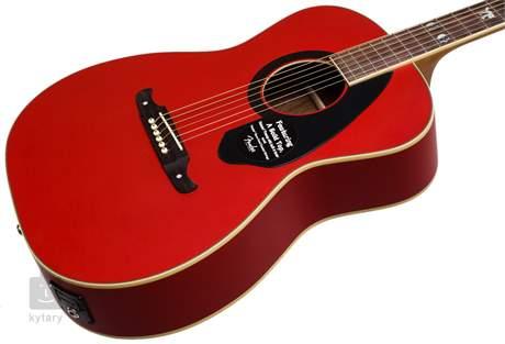 FENDER Tim Armstrong Hellcat Ruby (poškozené) Akustická kytara