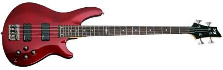 SCHECTER SGR C-4 Metallic Red Elektrická baskytara