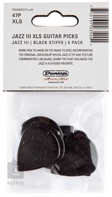 DUNLOP Nylon Jazz III XL Black Trsátka