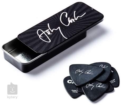 DUNLOP Johnny Cash Tin Pick Box Signature Medium Signature trsátka