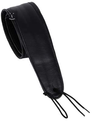 PERRI'S LEATHERS 157 Deluxe Padded Leather Black Kytarový popruh