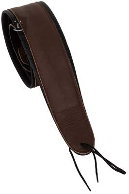 PERRI'S LEATHERS 161 Deluxe Padded Leather Brown Kytarový popruh