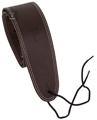 PERRI'S LEATHERS 174 Double Stitched Leather Brown Kytarový popruh