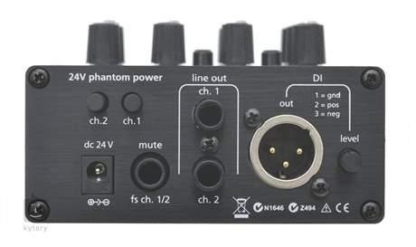 AER Dual mix 2 Kytarový předzesilovač