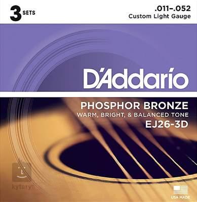 D'ADDARIO EJ26-3D Kovové struny pro akustickou kytaru