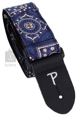 PERRI'S LEATHERS 1653 Fabric Blue Bandana Kytarový popruh