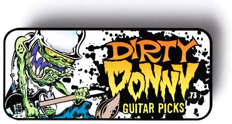 DUNLOP Dirty Donny Blackline Art Pick Tin 0.73 Signature trsátka