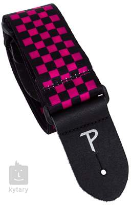 PERRI'S LEATHERS 590 Red-Black Checkers Kytarový popruh