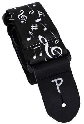 PERRI'S LEATHERS 7021 The Black And White Collection Music Kytarový popruh