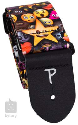 PERRI'S LEATHERS 8241 Emoji Star And Sun Kytarový popruh
