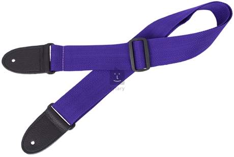PERRI'S LEATHERS 1890 Poly Pro Deluxe Purple Kytarový popruh