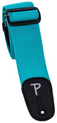 PERRI'S LEATHERS 1813 Poly Pro Teal Kytarový popruh