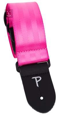 PERRI'S LEATHERS 1692 Seatbelt Pink Kytarový popruh