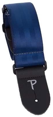 PERRI'S LEATHERS 1695 Seatbelt Navy Blue Kytarový popruh