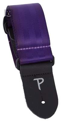 PERRI'S LEATHERS 1696 Seatbelt Purple Kytarový popruh
