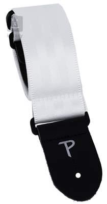 PERRI'S LEATHERS 6840 Seatbelt White Kytarový popruh