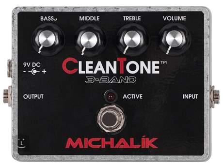 MICHALÍK Clean Tone 3 Band Baskytarový předzesilovač