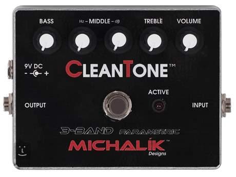 MICHALÍK Clean Tone 3 Band Parametric Baskytarový předzesilovač
