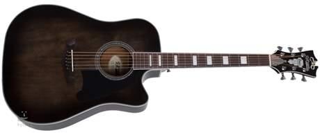 D'ANGELICO Premier Bowery Grey Black  Elektroakustická kytara