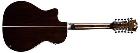 D'ANGELICO Premier Fulton Vintage Sunburst Dvanáctistrunná elektroakustická kytara