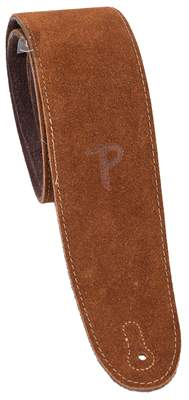 PERRI'S LEATHERS 200 Soft Suede Brown Kytarový popruh