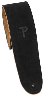 PERRI'S LEATHERS 202 Soft Suede Black Kytarový popruh
