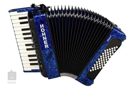 HOHNER Bravo II 48 Blue Silent Key Klávesový akordeon