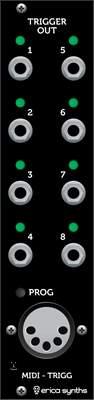 ERICA SYNTHS Midi to Trigger module Eurorack modul