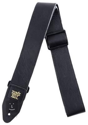 ERNIE BALL Tri Glide Italian Leather Black Kytarový popruh