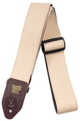 ERNIE BALL Tri Glide Italian Leather Tan Kytarový popruh
