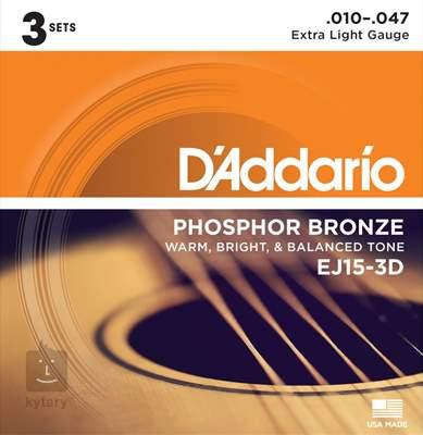 D'ADDARIO EJ15-3D Kovové struny pro akustickou kytaru