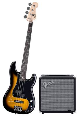 FENDER SQUIER Affinity Series Precision Bass PJ BSB Pack Baskytarový komplet