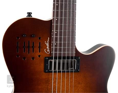 GODIN A6 Ultra Baritone Burnt Umber SG Elektroakustická hybridní kytara