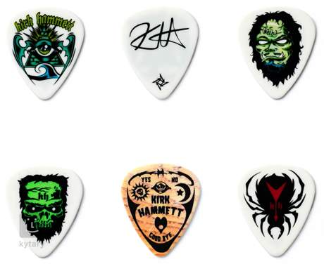 DUNLOP Kirk Hammett Pick Tin Signature trsátka