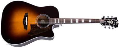 D'ANGELICO Premier Bowery Vintage Sunburst Elektroakustická kytara