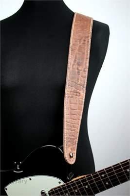 RICHTER Raw II Contour Croc Natural Kytarový popruh