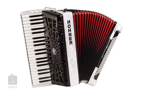 HOHNER Bravo III 120 white (SilentKey) Klávesový akordeon