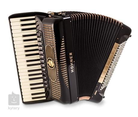 HOHNER Gola 414, black with blind (jalousie) - no chin register Klávesový akordeon