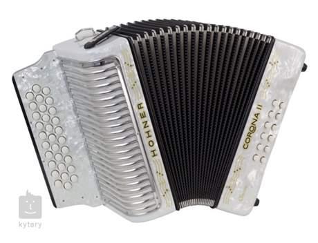 HOHNER Corona II GCF, white Diatonický akordeon
