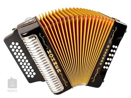 HOHNER Corona III BbEbAb, black Diatonický akordeon