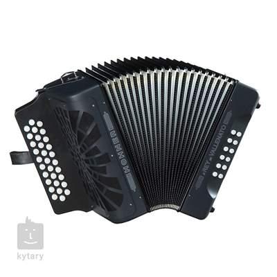 HOHNER El Rey del Vallenato BbEbAb, black Diatonický akordeon