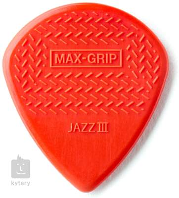 DUNLOP Nylon Max Grip Jazz III Red Sharp 471P3N Trsátka
