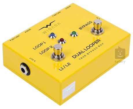 WIDARA Dual Looper Changer Yellow Signálový přepínač