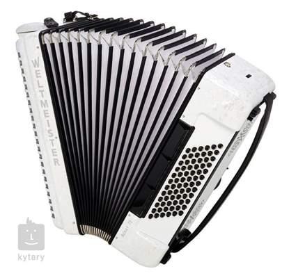 WELTMEISTER Achat III 72 white Klávesový akordeon