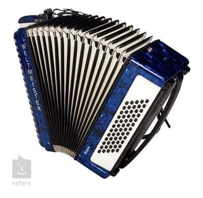WELTMEISTER Rubin MT II 60 blue  Klávesový akordeon