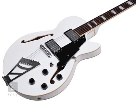 D'ANGELICO Premier SS Stairstep Tailpiece White Semiakustická kytara
