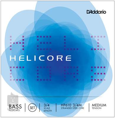 D'ADDARIO Helicore Pizzicato cbs 3/4 M Kontrabasové struny