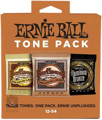 ERNIE BALL Acoustic Tone Pack Medium-Light Kovové struny pro akustickou kytaru