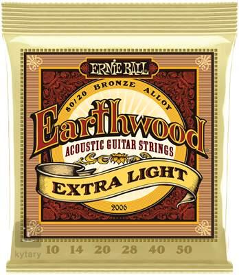 ERNIE BALL Earthwood 80/20 Bronze Extra Light Kovové struny pro akustickou kytaru